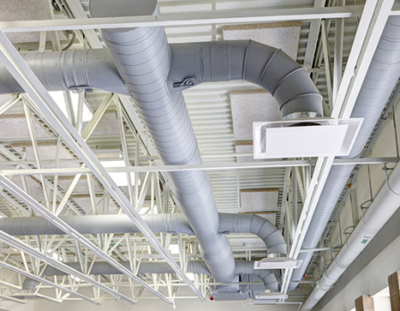 White ventilation pipes