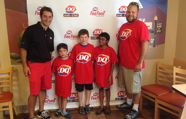 Falcon engineers partnered with Dairy Queen and STEM for Kids.